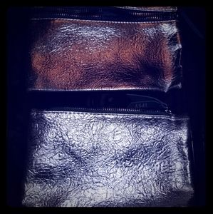 Other - 2x silver makeup bags